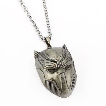 Black Panther Necklace Metal Pendant  Jewelry Vintage Accessories
