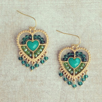 Pree Brulee - Ocean Heart Earrings