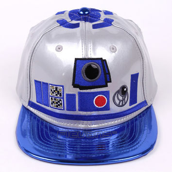 New Hot 2017 Fashion Brand Star Wars Snapback Caps Leather Baseball Cap Men Boy Hip-hop Hats Boba Fett Clone Troopers R2D2 BB-8