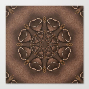 leather fantasy flower in mandala style Canvas Print by Pepita Selles