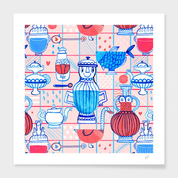 «Happy Kitchen» Art Print by Veronika Kotyk - Numbered Edition from $24.9 | Curioos