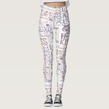Laugh Love Kiss Leggings