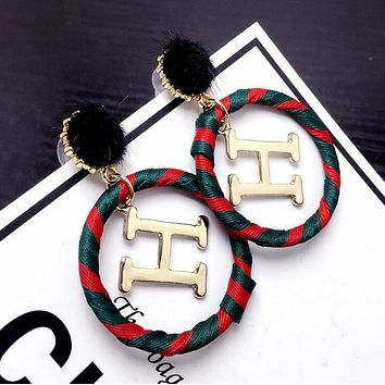 Hermes Classic Trending Women Stylish H Circular Earrings Accessories Jewelry