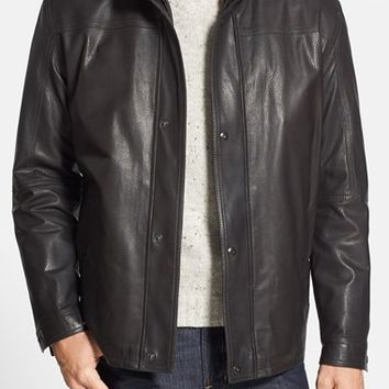 Men's Remy Leather Regular Fit Leather Jacket,