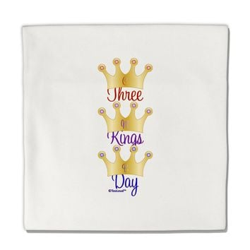 "Three Kings Day - C M B Crowns Micro Fleece 14""x14"" Pillow Sham by TooLoud"