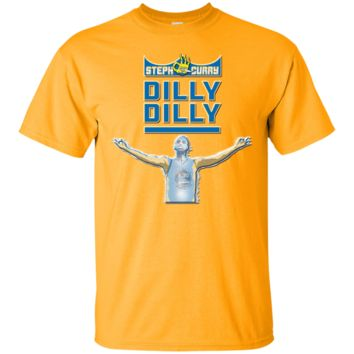 STEPH CURRY : NBA WARRIORS : DILLY DILLY : Cotton T-Shirt