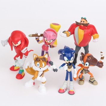 6pcs/set 5-7cm sonic the hedgehog Figures toy pvc toy sonic Characters figure toy