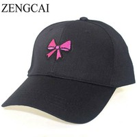 Trendy Cotton Women Cartoon Baseball Cap Cute Candy Ice Cream Embroidery Hat Men Adjustable Snap back Caps For Adult