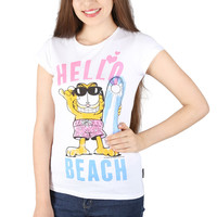 Garfield - Hello Beach Tee For Women
