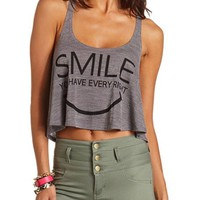 Braided Strap Graphic Crop Tank: Charlotte Russe
