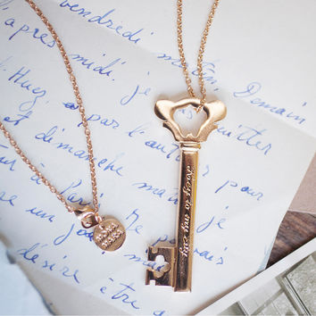 Gold key necklace- 'Key to my city...'
