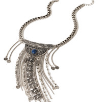 Etched Fringe Necklace