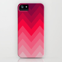 PINK OMBRÉ CHEVRON iPhone Case by nataliesales | Society6