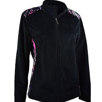 Moonshine Muddy Girl Pink Purple Camo Black Fleece Zipper Coat Jacket Jp