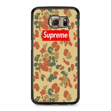 SUPREME CAMO VERTICAL Samsung Galaxy S6 Case