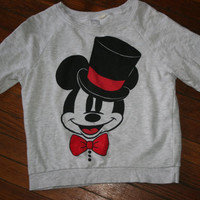 Womens Vintage Mickey Mouse Sweater/ Hipster Mickey Mouse pull over / Hipster Sweater Size Small