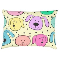 Cute Colorful Pet Pattern Indoor Large Dog Bed