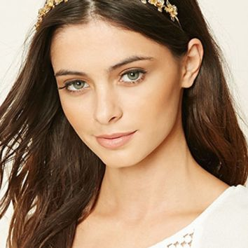 Etched Floral Headband