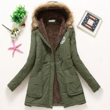2017 New Parkas Female Women Winter Coat Thickening Cotton Winter Jacket Womens Outwear Parkas for Women Winter