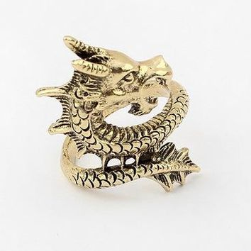 Cool Classic Dragon Ring for Girls/ Women Boy/ Men, Jewelry of Dragon, Gothic Punk Vintage Style Ring