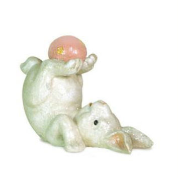 Easter Figure - Bunny Holding Egg At Feet