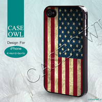 Phone cases, iPhone 5 case, iPhone 5S case, iPhone 5C case, iPhone 4/4s case, iPhone 4s case, American Flag, Vintage, Case for iPhone-40014
