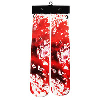 Blood Over Print Custom Printed High Long Cotton Socks