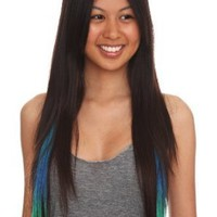 Color Fiend Turquoise Ombre Synthetic Hair Extensions 2 Pack