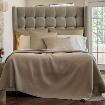 Retro Taupe Coverlets and Pillows by Lili Alessandra