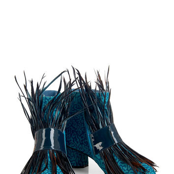 SS16 'Fear and Loafing' Blue Ankle Boots