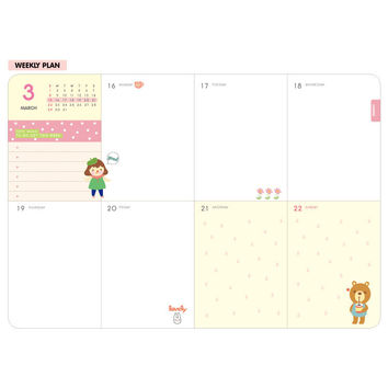 2015 Ardium Hello coco weekly dated diary scheduler