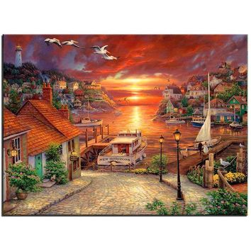 5D Diamond Painting Marina Village Kit