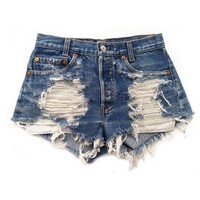 Women's Vintage Levi's Distressed Stone Dreamer Low Rise Cut-Off Shorts