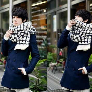 2016 Brand New 4 colors Women's Winter Warm Unisex Men Cable Knit Cowl Neck Long Scarf Shawl Free Shipping Fashionable FA2012