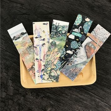 30pcs/pack kawaii creative scenery Student Stationery Bookmark Paper Cartoon Promotional Gift Office Stationery Bookmark