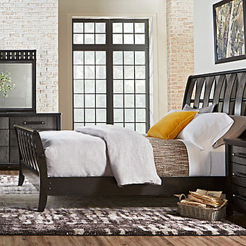 Bedford Heights Gray 5 Pc King Sleigh Bedroom - Bedroom Sets Colors