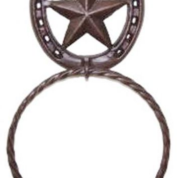 Cast Iron Star & Horseshoe Towel Ring