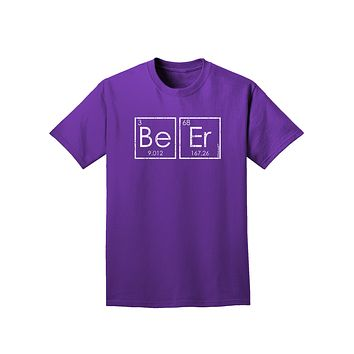 Be Er - Periodic Table of Elements Adult Dark T-Shirt by TooLoud