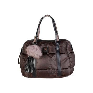 Laura Biagiotti Brown Nylon Handbag