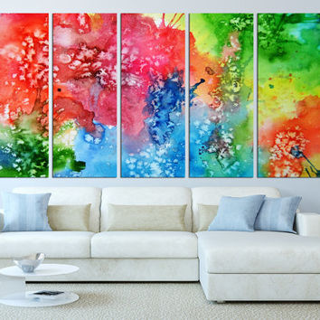 Abstract wall art canvas, large wall art print, watercolor Large wall Art, large canvas print, extra large wall art, Art canvas print t524