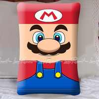 Super Mario Funny Face on Decorative Pillow Covers