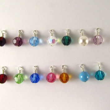 Interchangeable Birthstone Dangles For Sterling Hoops