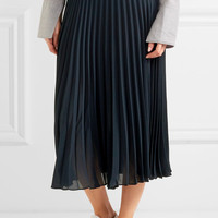 Vince - Pleated chiffon midi skirt