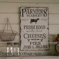Farmhouse vintage Farmers Market sign handpainted