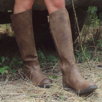 Very Volatile Mira Tan Zip Up Riding Boots
