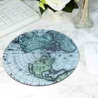 Vintage Map Mousepad Blue Mouse Pad Abstract Cheap Gift For Men Office Decor For Men