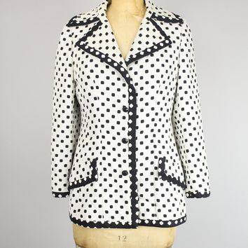 Vintage 1950s-60s Lilli Ann Paris San Francisco Polka Dot Jacket