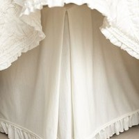 Rivulets Bedskirt by Anthropologie Ivory