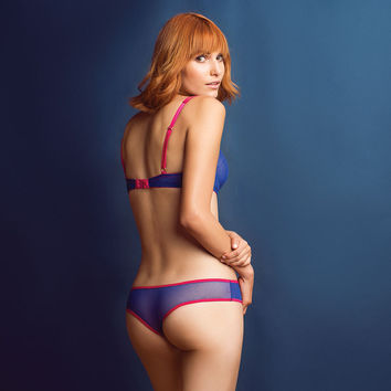 Pippa Mesh Thong Electric Blue