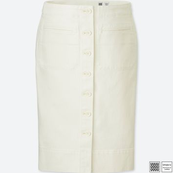 WOMEN Uniqlo U Denim Midi Skirt
